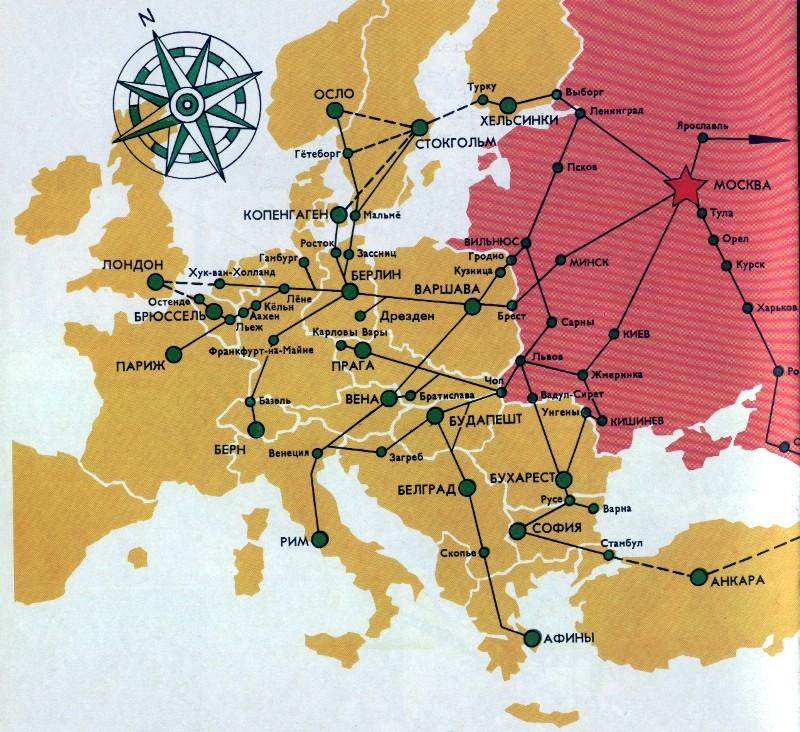 Карта маршрутов поездов и вагонов МРДОП