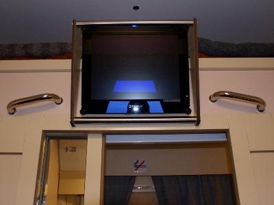 LCD-монитор в купе вагона СВ (1 класса) поезда «РОССИЯ»