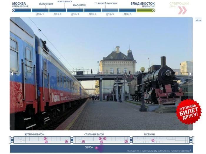 на поезде «РОССИЯ»