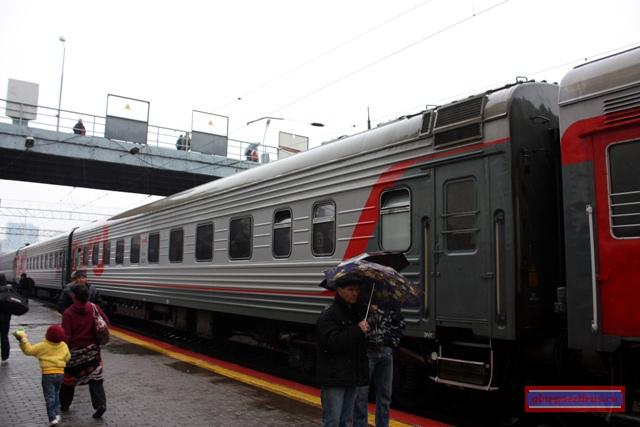 Мой вагон на станции Владивосток