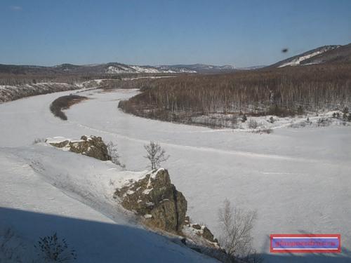 река Большая Чичотка вблизи поселка Амазар