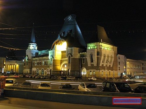 Ярославский вокзал вечером