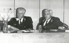 Начальник Московской железной дороги Паристый И. Л. - слева и Начальник ДМТП Дурдин Е. К. - справа