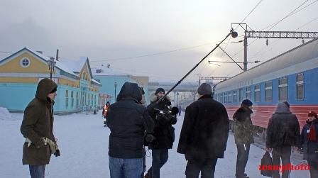 Съемки фильма: работа группы RT и французких операторов