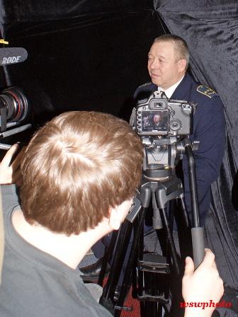 Съемки фильма, интервью начальника поезда Сергея Миронова