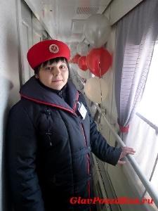 Проводник юбилейного рейса международного поезда №20/19 Самсонова Кристина.