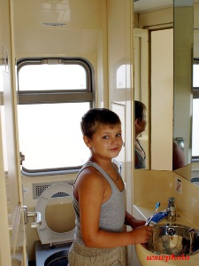 The toilet train car «RUSSIA» (environmentally friendly toilet complex)